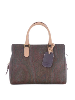 Etro: bowling bags - Russel Cashmere print bowling bag