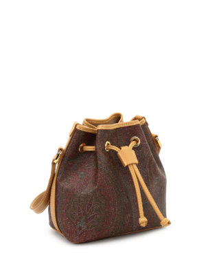 Etro: Bucket bags online - Paisley fabric bucket bag