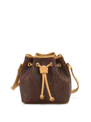 Etro: Bucket bags - Paisley fabric bucket bag