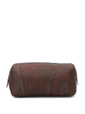ETRO: custodie e cover - Beauty case in nylon stampa Paisley