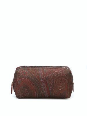 ETRO: custodie e cover - Piccolo beauty case in nylon stampa Paisley