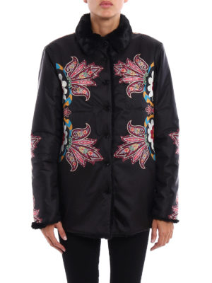 Etro: casual jackets online - Paisley pattern reversible jacket