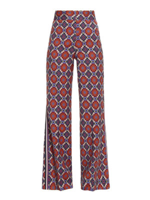 Etro: casual trousers - Muslin wool wide leg trousers