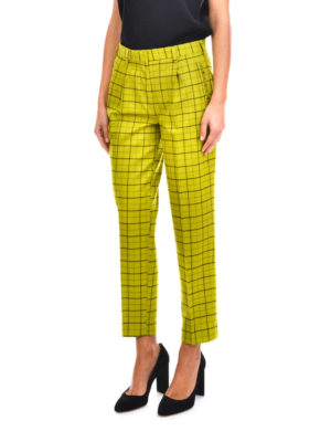Etro: casual trousers online - Flare cotton trousers