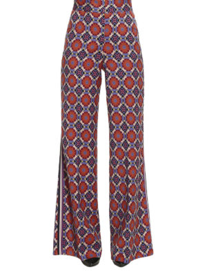 Etro: casual trousers online - Muslin wool wide leg trousers