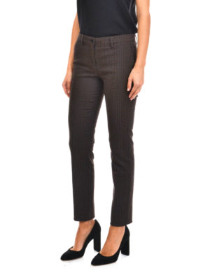 Etro: casual trousers online - Slim fit crop trousers