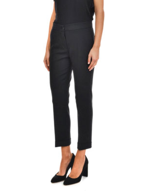 Etro: casual trousers online - Stretch cotton trousers