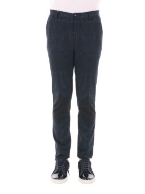 Etro: casual trousers online - Tonal paisley cotton blend trousers