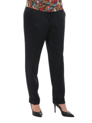 Etro: casual trousers online - Turn-ups detailed trousers