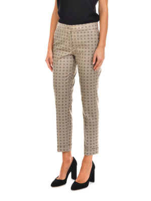Etro: casual trousers online - Wool blend trousers