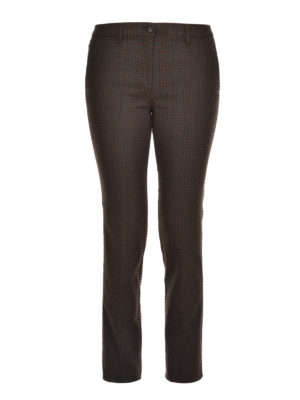 Etro: casual trousers - Slim fit crop trousers
