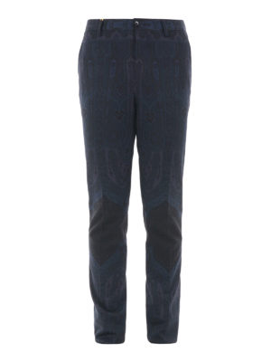 Etro: casual trousers - Tonal paisley cotton blend trousers