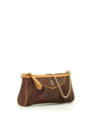 Etro: clutches online - Chain handle paisley clutch