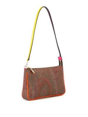 Etro: clutches online - Multicolour detail Paisley clutch