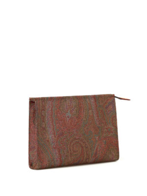 Etro: clutches online - Paisley small zipped clutch