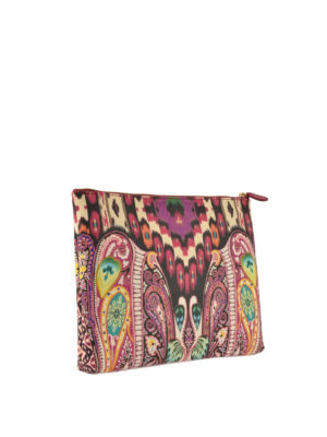 Etro: clutches online - Tribal and paisley jacquard clutch