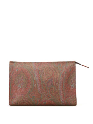 Etro: clutches - Paisley large zipped clutch