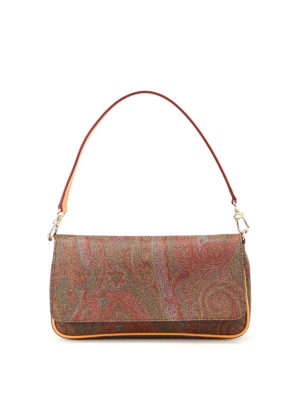 Etro: clutches - Paisley pattern slender clutch