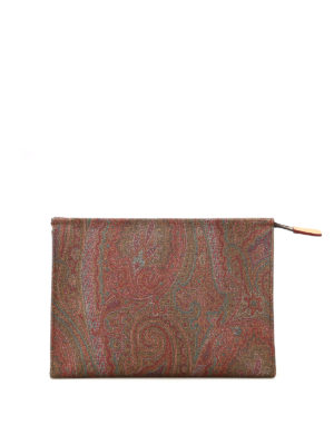 Etro: clutches - Paisley small zipped clutch