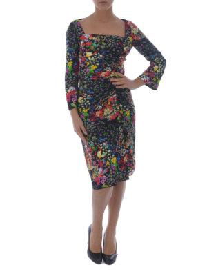 Etro: cocktail dresses online - Squared neckline viscose dress