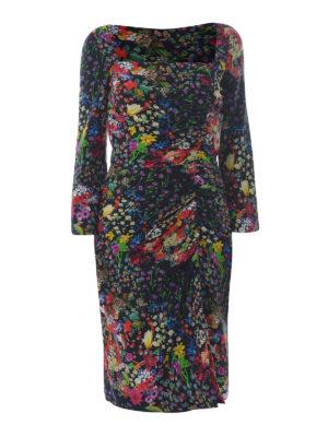 Etro: cocktail dresses - Squared neckline viscose dress