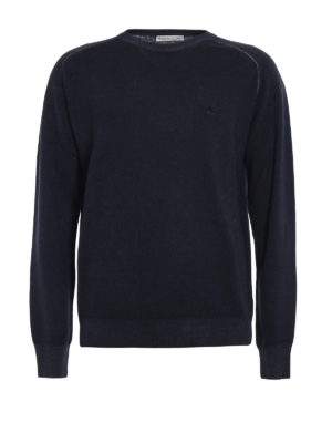Etro: crew necks - Faded trimming wool sweater