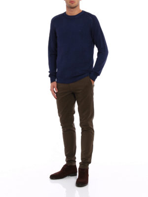 Etro: crew necks online - Faded trimming wool sweater