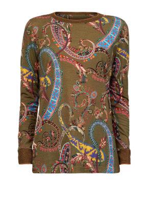 ETRO: maglia collo rotondo - Pull in misto lana stampa Paisley