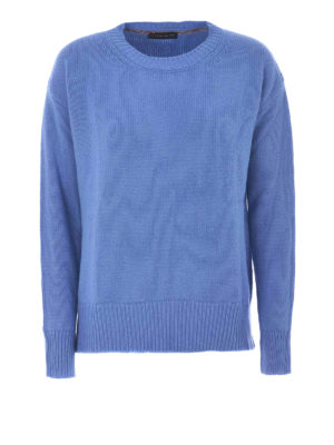 Etro: crew necks - Wool and cashmere blue crewneck