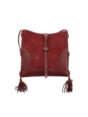 ETRO: cross body bags - Eivissa shoulder bag in burgundy