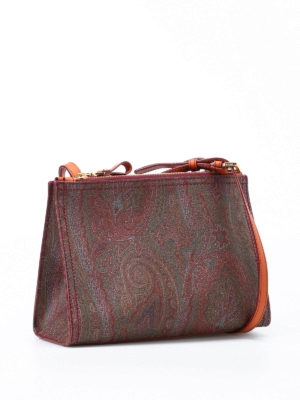Etro: cross body bags online - Paisley structured cross body bag