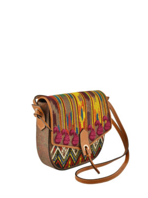 Etro: cross body bags online - Tribal jacquard messenger bag