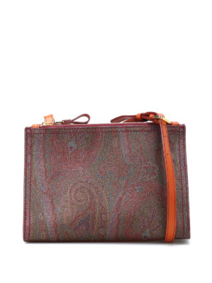 Etro: cross body bags - Paisley structured cross body bag