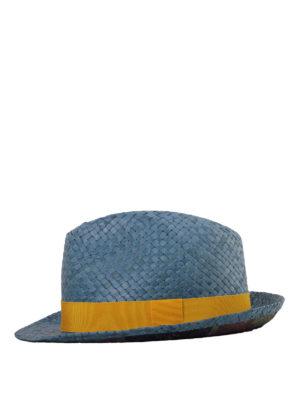Etro: hats & caps - Braided straw panama hat