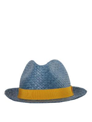 Etro: hats & caps online - Braided straw panama hat