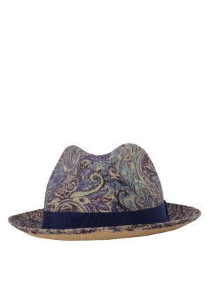 Etro: hats & caps online - Paisley print panama hat