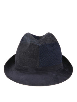 Etro: hats & caps online - Patchwork wool hat