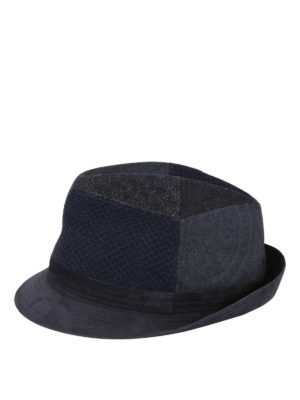Etro: hats & caps - Patchwork wool hat