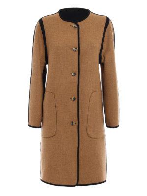 Etro: knee length coats - Wool cloth reversible coat