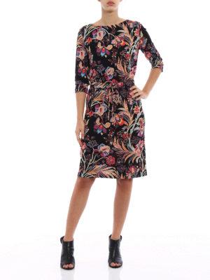 Etro: knee length dresses online - Flower print jersey shift dress