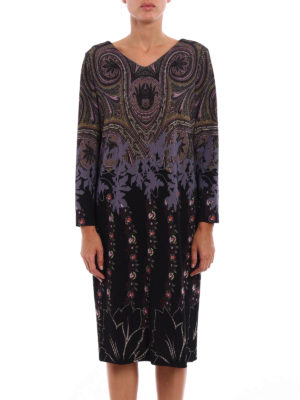 Etro: knee length dresses online - Patterned jersey dress
