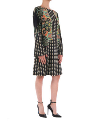Etro: knee length dresses online - Patterned viscose dress