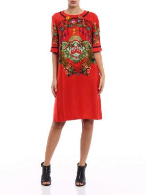 Etro: knee length dresses online - Printed silk blend tunic dress