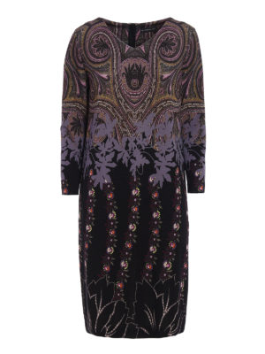 Etro: knee length dresses - Patterned jersey dress