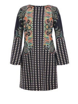 Etro: knee length dresses - Patterned viscose dress
