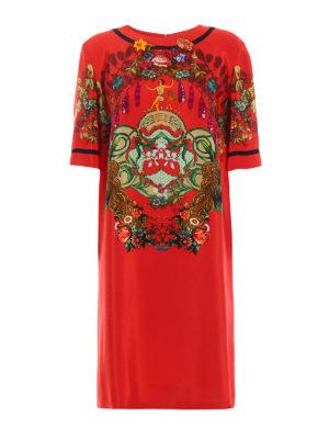 Etro: knee length dresses - Printed silk blend tunic dress