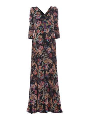 Etro: maxi dresses - Floral viscose maxi wrap dress