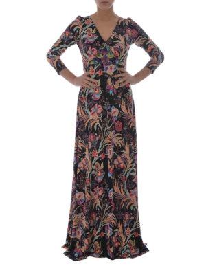 Etro: maxi dresses online - Floral viscose maxi wrap dress