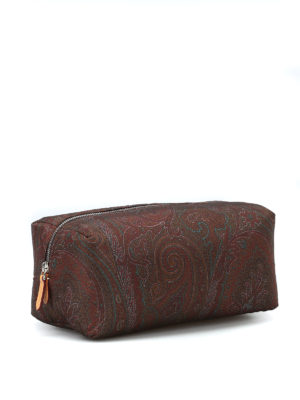 ETRO: custodie e cover online - Beauty case in nylon stampa Paisley