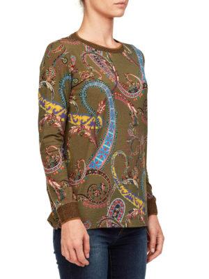 ETRO: maglia collo rotondo online - Pull in misto lana stampa Paisley